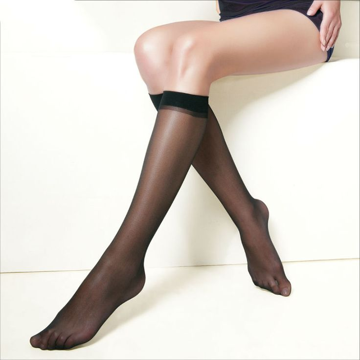 10 pairspack Hot Basal Silk Knee High Socks 20D40D70D Elastic Ultra-thin Transparent Nylon Half Stocking #CLICK! #clothing, #shoes, #jewelry, #women, #men, #hats, #watches