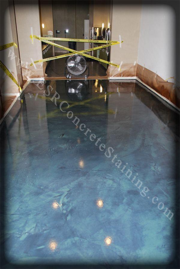 42 best images about floors of color on pinterest for Decorative concrete floors