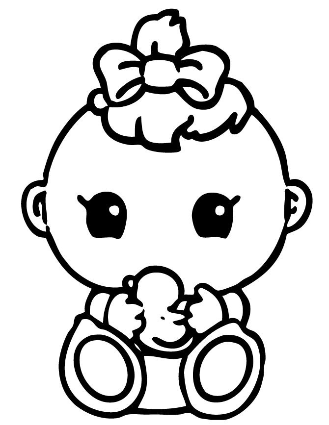 Squinkies Baby Coloring Page Baby coloring pages