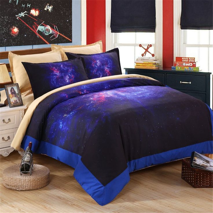 EsyDream Home Bedding Sets,Hipster Galaxy Bedding Set Universe Outer Space Bedspreads King Queen Sizee,Fashion Themed Space Kids Duvet Cover Sets (No Comforter),Queen/Full Size //Price: $57.03 & FREE Shipping //     #bedding