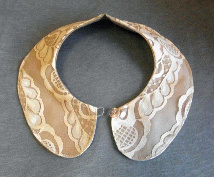 Bubikragen in beige mit Spitze // peter pan collar with lace by KaSoMi-3 via dawanda.com
