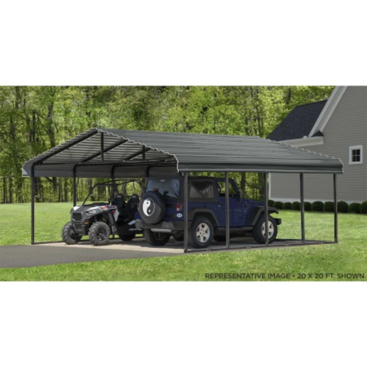 Arrow CPHC202407 CARPORT 20X24X07 CHARCOAL Carport kits