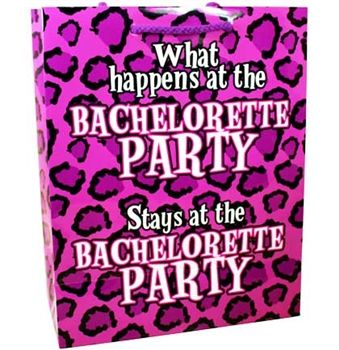 The perfect gift bag for your animal print Bachelorette Party! Just $1.99 at The House of Bachelorette!