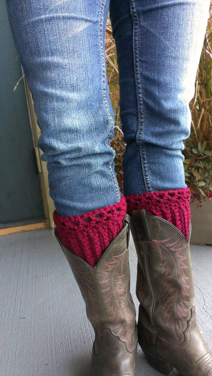 162 best Slippers & Boot cuffs images on Pinterest | Crochet boot ...
