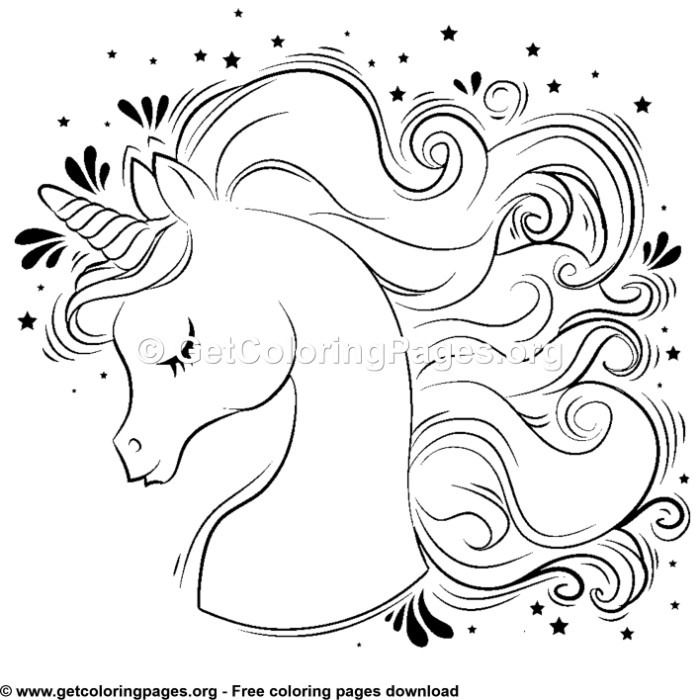 110 Cute Cartoon Baby Unicorn Coloring Pages In 2020 Unicorn
