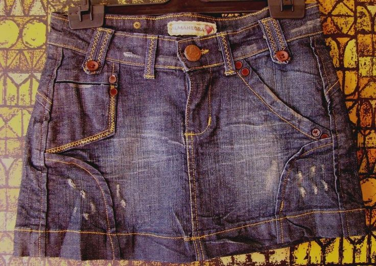 MINI GONNA jupe rock skirt jeans DENIM blu ALMANEGRA jeans Italy 42 S falda