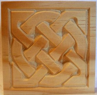 Carved Wood Celtic style Rosette Corner Block in Pine