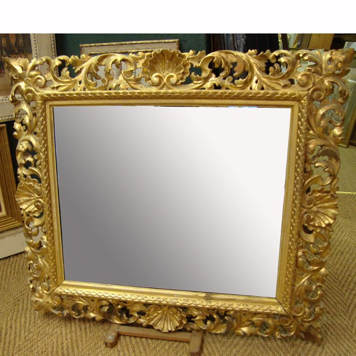 vintage antique wall mirrors with gold color wooden frame material feat damask pattern frame combine rectangular