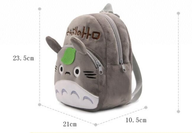 Totoro Backpack Plush Bag Shoulder School Cartoon Totoro Animal Backpack for Child Girl and Boy #Affiliate