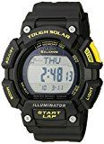 Casio Men's STL-S110H-1CCR Tough Solar Runner Digital Black Watch