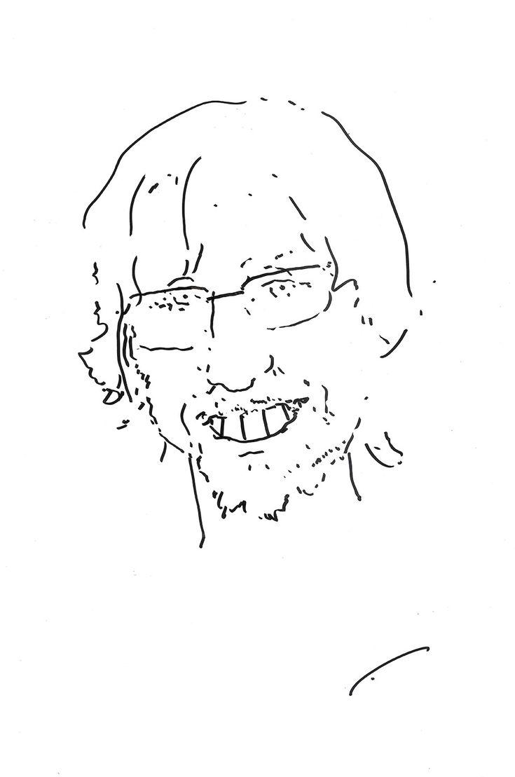 "Bato Dugarzhapo caricature on me on the exhibition ""open lesson"""