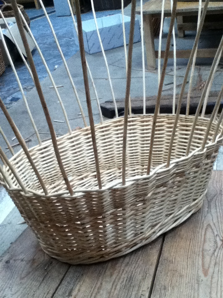 5 of 10 - washing basket being made - weave finished and wale in place