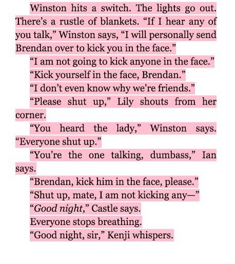 My most definite favorite part of the book.