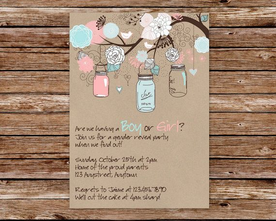 25 best ideas about Gender reveal party invitations – Baby Gender Reveal Party Invitation Wording