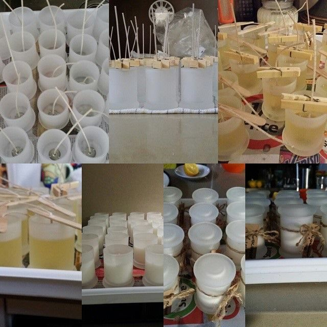 Wedding favours.......stressful making them as it was an important occasion but so satisfying being part of a special day. 90 x coconut lime scented soy candles.