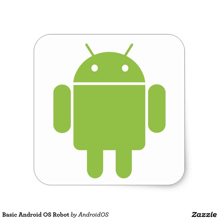 Basic Android OS Robot Square Sticker #sticker