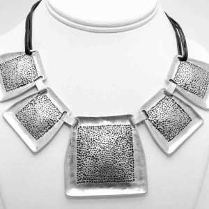 Silver necklace. Empire jewellery collection. Collection 104. Necklace A1101. Silver plated zamak jewellery.