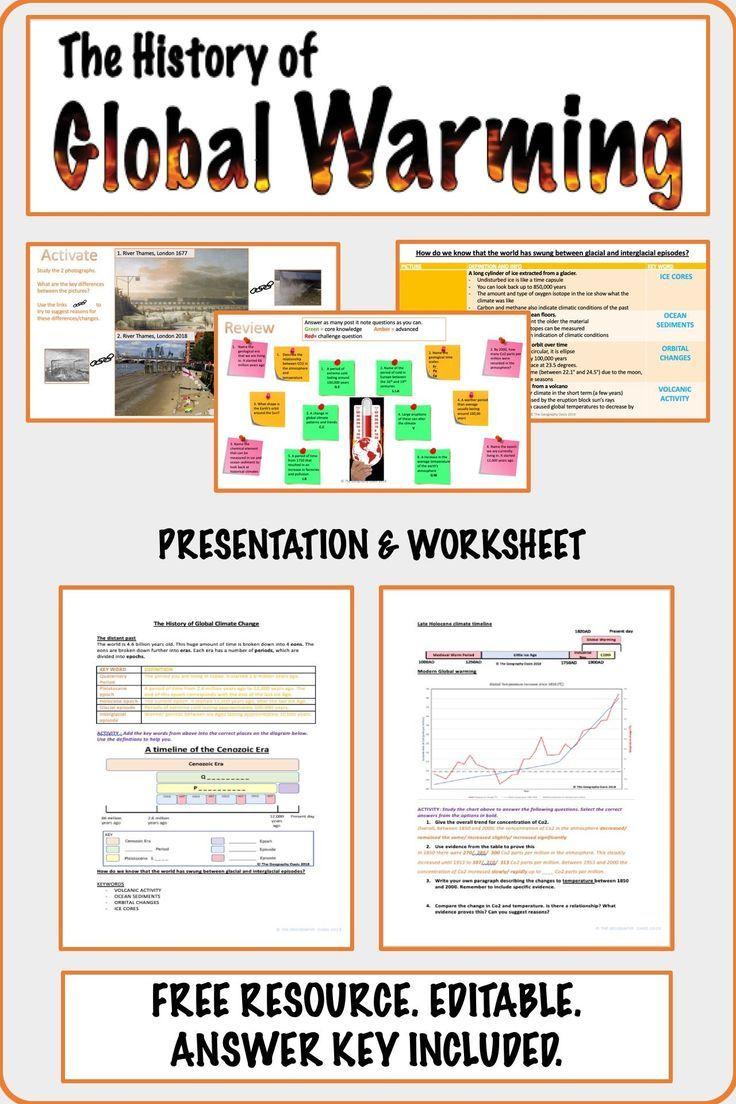 The History Of Global Warming Geography Social Studies Printable And Digital Global Warming Teaching Geography Social Studies Printables [ 1104 x 736 Pixel ]