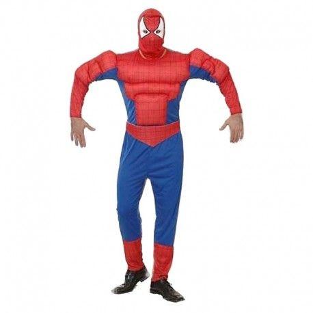 Disfraces Personajes hombre | Disfraz de Spiderman musculoso. Contiene buzo de cuerpo entero con musculos y máscara. Talla M/L. 17,95€ #Spiderman #Spidermanmusculoso #disfrazspiderman #disfraz #superheroe #disfrazpersonaje #disfraces
