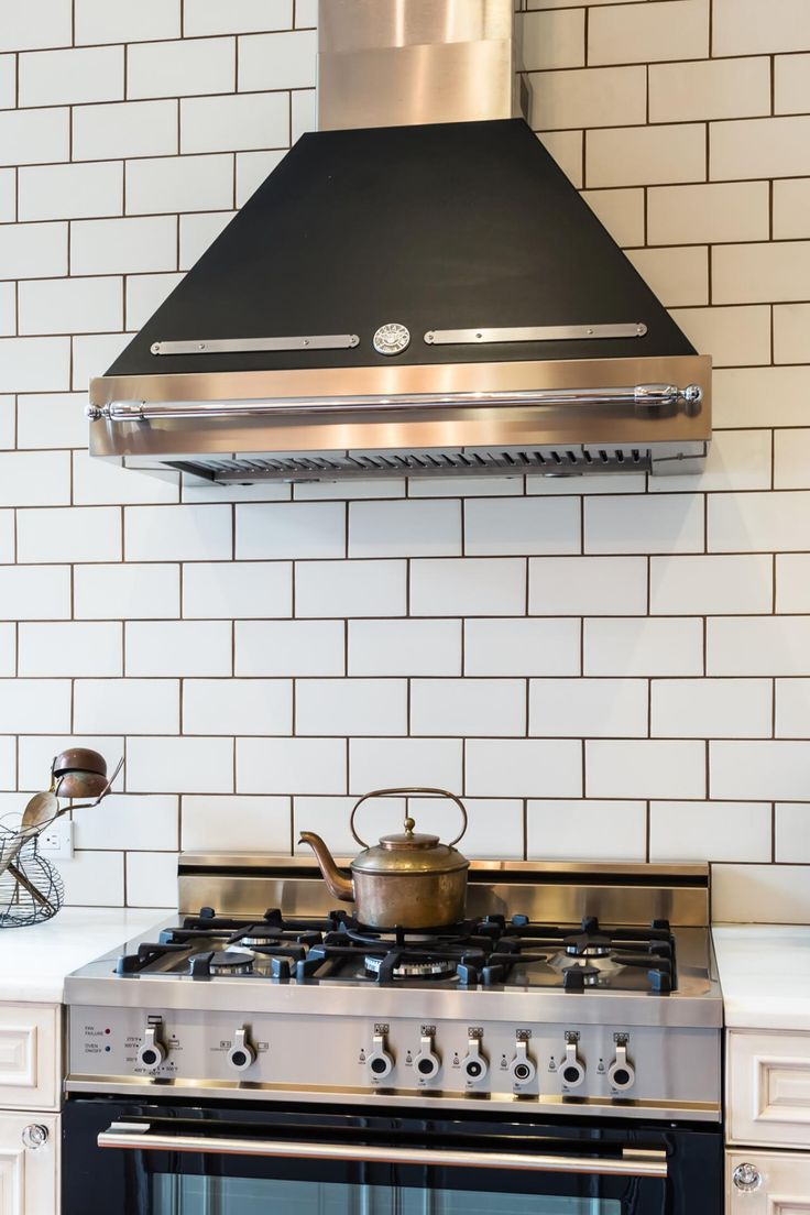 White Subway Tile with gray grout  DIY House Projects