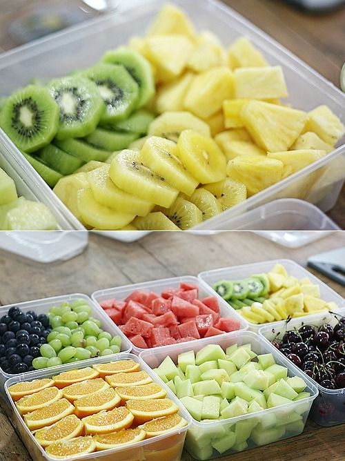 It's proven that if you cut up fruit/veggies ahead of time and put it in your fridge for easier grabbage, you're way more likely to eat healthier!