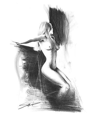 Erotic nude art drawing can