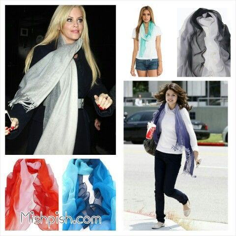 Ombre hair? How about ombre scarves?? Check out mishpish.com for a selection of ombre scarves in different colors! #ombre #ombrescarves #scarf #scarves #fashion #accessories