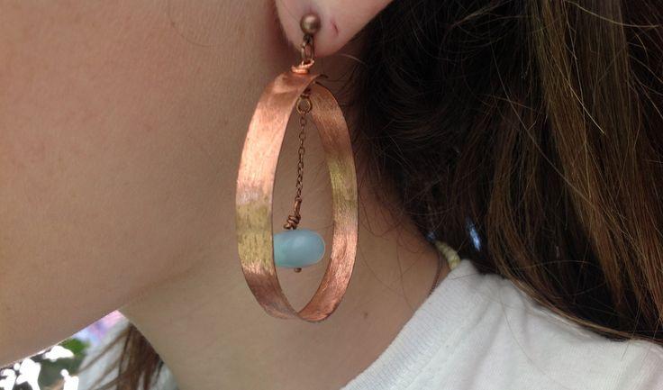 Zizicreation - copper earrings