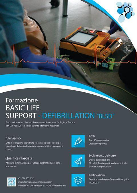 Sono aperte le iscrizioni per il corso Basic Life Support Defibrillation - BLSD
