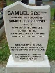 "Samuel Scott was a ""catch-boy"" that died on April 20, 1910 whereas working to buil…"