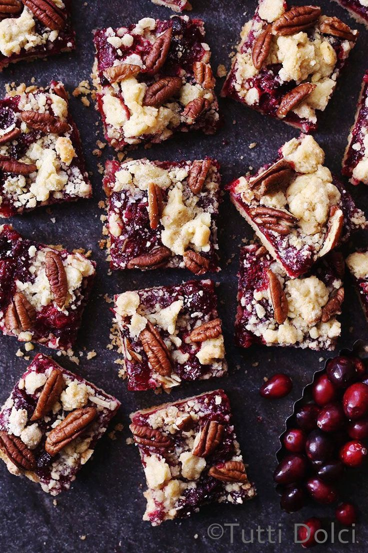 For a sophisticated twist on the humble crumb bar, you must try these cranberry pecan crumb bars. Maple syrup and a splash of brandy soften the edge of the cranberries, resulting in a balanced, jam...