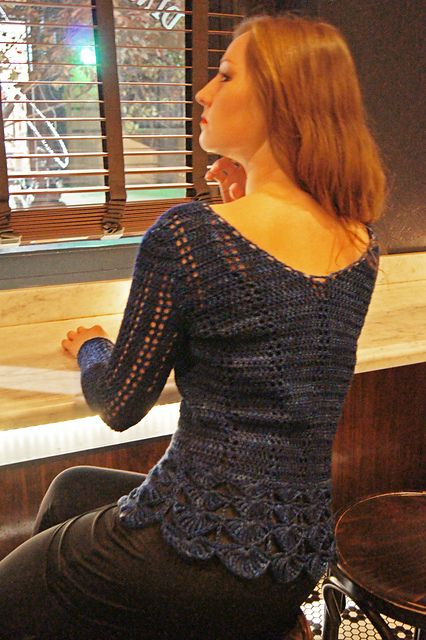 Ravelry: Midnight Sky Crochet Sweater pattern by Laura Zukaite