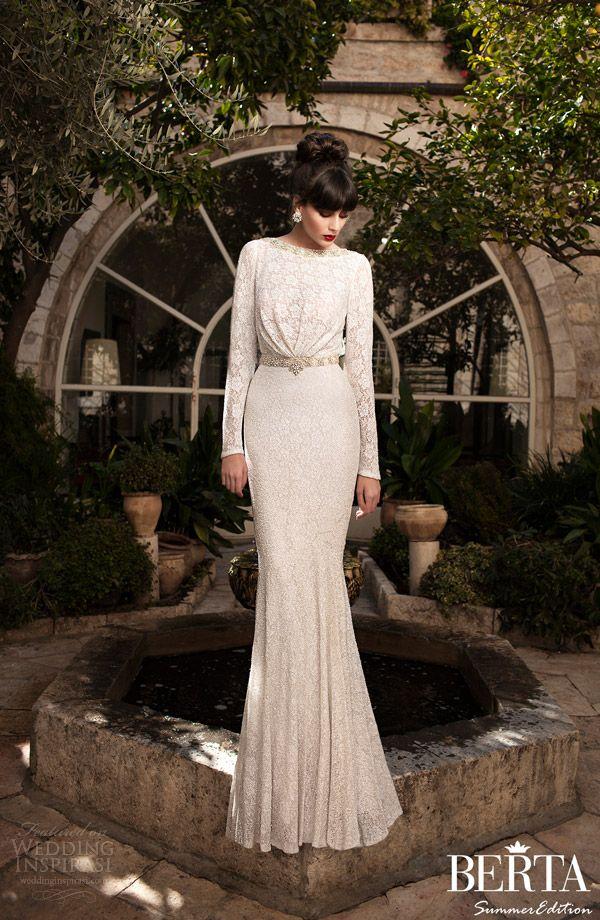 Berta 2015 long-sleeve lace wedding dress
