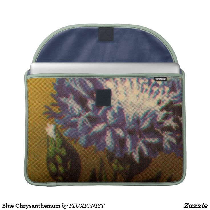 Blue Chrysanthemum Sleeve For MacBook Pro - $72.00 Made by Rickshaw Bagworks / Design: Fluxionist