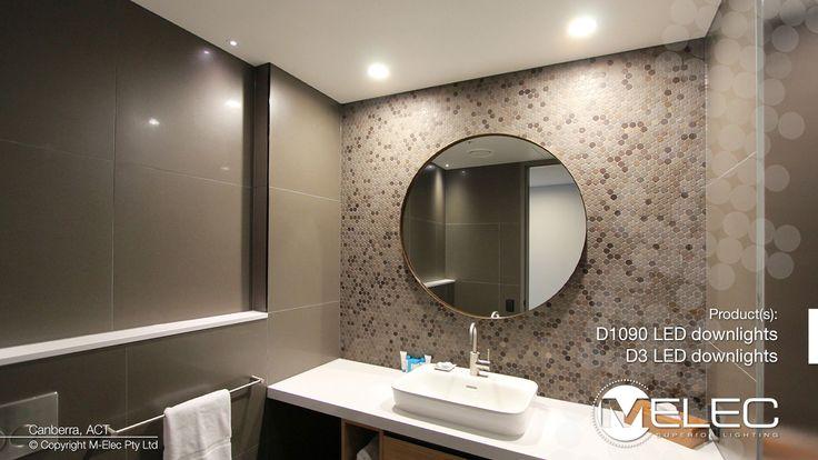 Modern bathroom for a modern hotel. M-Elec LED lighting helps create great atmosphere.