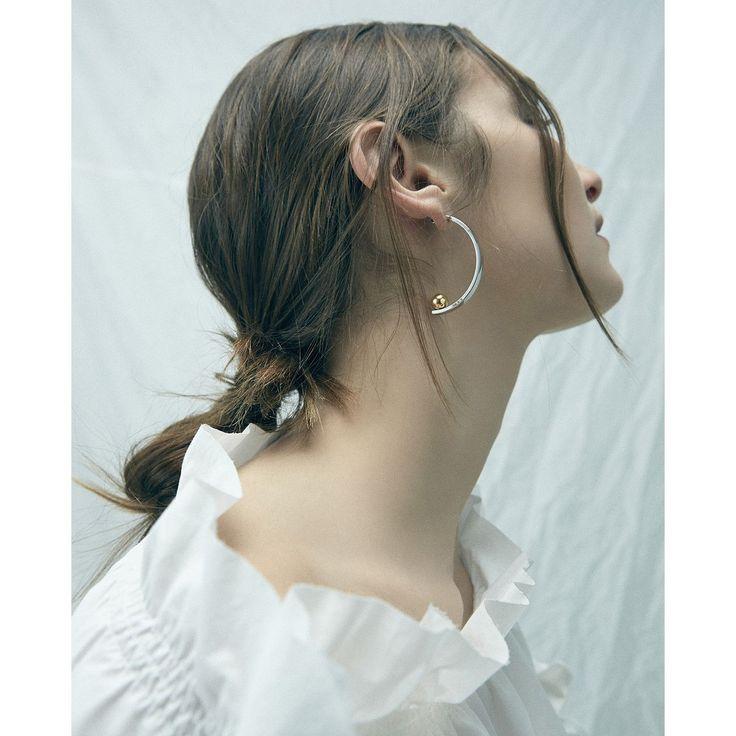 Vela Earrings by Jenny Bird in Rhodium