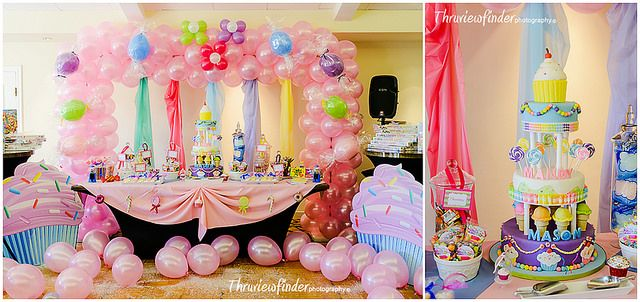 Beautiful Candyland Themed Birthday Party #firstbirthday Photographed by www.thruviewfinder.com