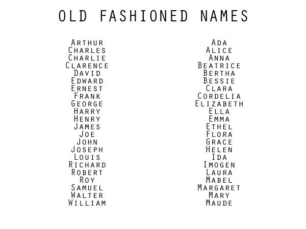 Names old fashioned
