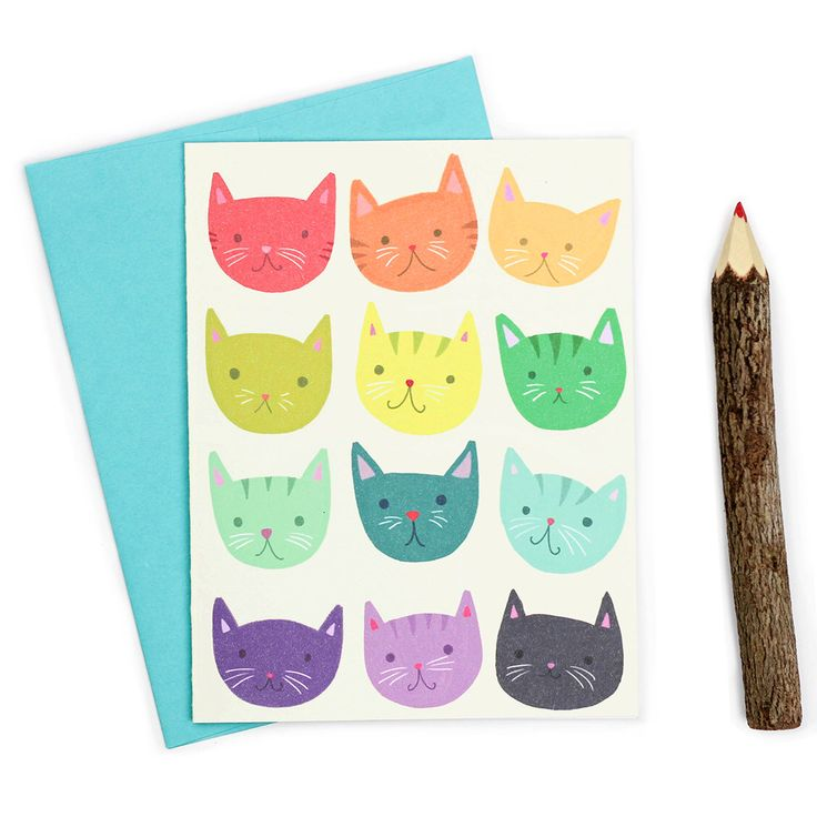 Arco iris gatos lindos Nota tarjeta - Kawaii tarjeta de amistad - amistad gato de TurtlesSoup en Etsy https://www.etsy.com/es/listing/244860310/arco-iris-gatos-lindos-nota-tarjeta