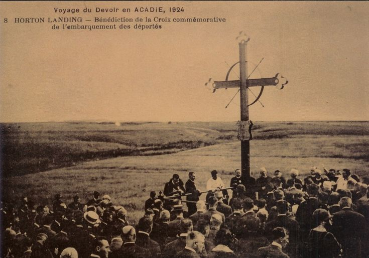 THE DEPORTATION CROSS -- This cross was erected at Grand-Pre', Nova Scotia in  memory of the Acadians who were victims of the Deportation of 1755