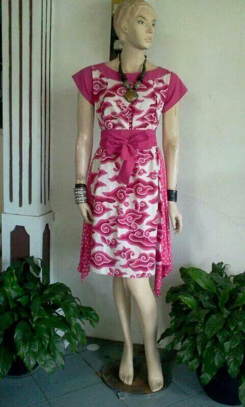 pink batik mega mendung, cute