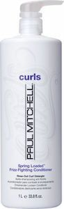 Paul Mitchell Spring Loaded® Frizz-Fighting Conditioner  Paul Mitchell  Spring Loaded® Frizz-Fighting Conditioner creamy rinse-out conditioner tackles tangles, de-frizzes and defines curls. Replenishes moisture with jojoba oil and hydrating natural extracts. Leaves hair soft, smooth and frizz-free. Color safe. Paraben free. Gluten free. Vegan