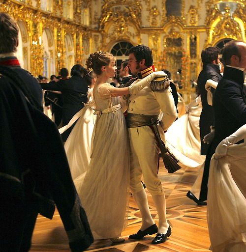 Clémence Poésy as Natasha Rostova and Alessio Boni as Prince Andrej Bolkonsky in War and Peace (TV Mini-Series, 2007).