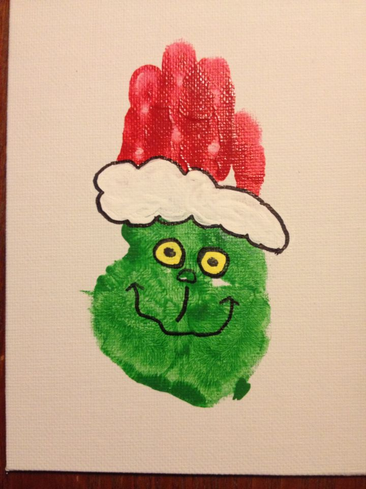 You're not so mean Mr. Grinch. Handprint Grinch.