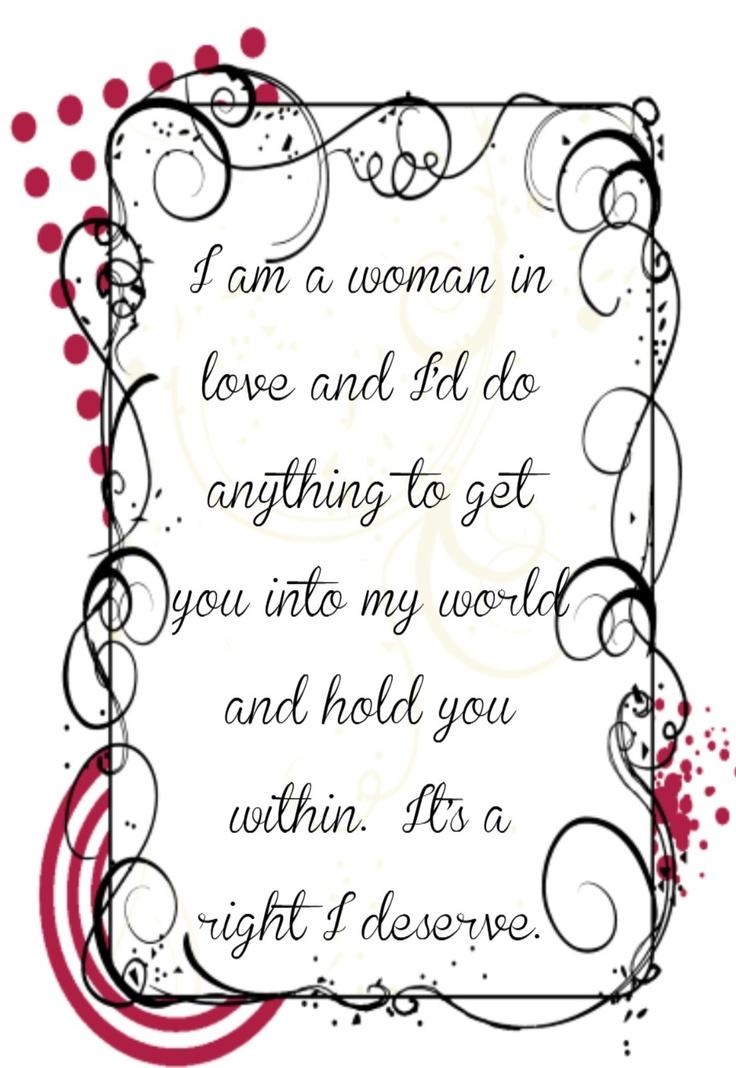 Barbara Streisand - Woman In Love Lyrics | MetroLyrics