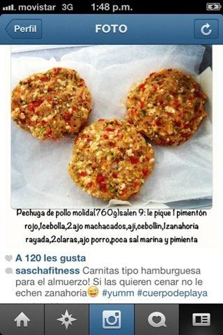 hamburguesas de pavo o pollo @saschafitness