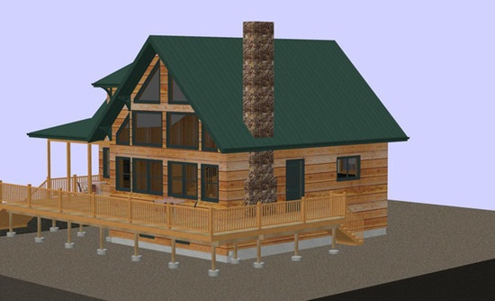 New Construction - Mountain cabin renderings