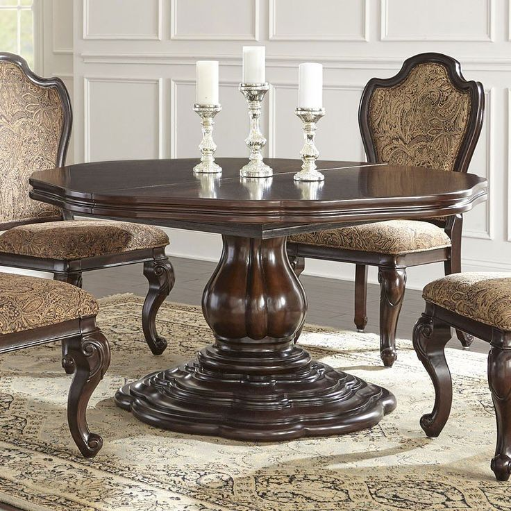 Angelina Round Dining Table Steve Silver Furniture   Furniture Cart
