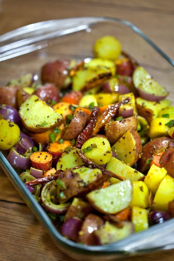 Roasted vegtables with indian spices