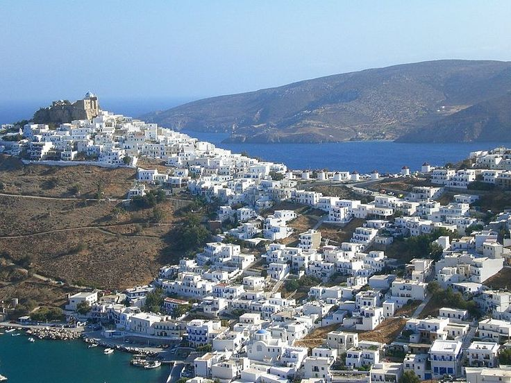 View of Chora, Astypalaia, Dodecanese, Greece